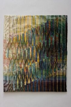 Judith Poxson Fawkes - Seven Six Times 2009 linen double weave x Weaving Art, Tapestry Weaving, Hand Weaving, Creative Textiles, Fibre And Fabric, Quilt Modernen, Textile Fiber Art, Elements Of Art, Fabric Manipulation