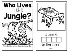 This 7-page student book fits in with lessons about the jungle, the rainforest, and/or the animals that live there.  The reading level is perfect for K-1 students.  Each page includes beginning high-frequency words and predictable text with some breaks in the pattern to keep readers engaged with the words on the page.Each page also includes a missing animal word.