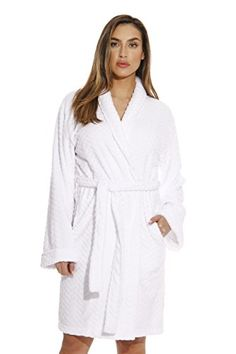 fe746de4c9 Just Love 6312-White-XL Kimono Robe Bath Robes for Women Bath Robes