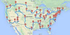 Voyage week end, road trip usa, usa roadtrip, usa trip, travel ar Travel Maps, Travel Usa, Places To Travel, Travel Destinations, Travel Trip, Summer Travel, Travel Guide, Road Trip Usa, Road Trip Canada