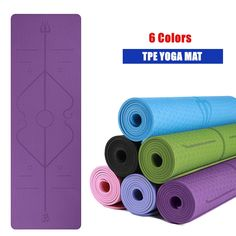 TPE Yoga Mat with Position Line Non Slip Carpet Mat High Density For Beginner Environmental Fitness Gymnastic Mat Product Description: Made by best quality TPE material, printed postion Gymnastics Mats, Carpet Mat, Yoga Accessories, Pilates Workout, Best Yoga, Yoga For Beginners, How To Do Yoga, Best Gifts, Positivity