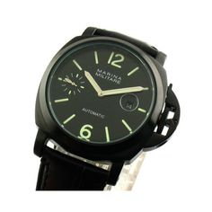Now available on our store: Parnis 44mm Marin... Check it out here! http://parniswatches.net/products/parnis-44mm-marina-militare-pvd-black-case-date-automatic-watch