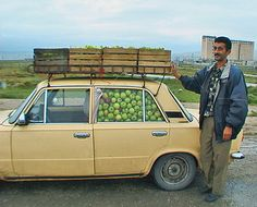 Azerbaijan, Apples In Car, 2000 | Jeff Shea