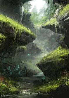 environment landscape art by ninjaticsart