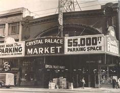 vintage san francisco   Crystal Palace Market, San Francisco, 1954.