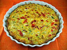 recipes magazine: Fennel, Red Pepper Quiche