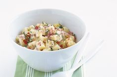 Who said traditional potato salad had to be high in fat? This potato salad has all of the flavour and none of the guilt.