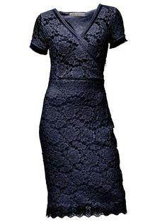 Kanten stretch jurk