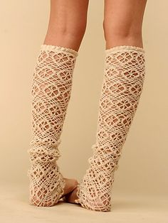 Crochet Flower Legwarmer. Inspiration - no pattern