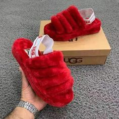 Ugg Slippers Sale Available in adult & child sizes. Ugg Sandals, Ugg Shoes, Shoe Boots, Fila Sandals, Slide Sandals, Cute Uggs, Fluffy Shoes, Cute Slides, Fuzzy Slides