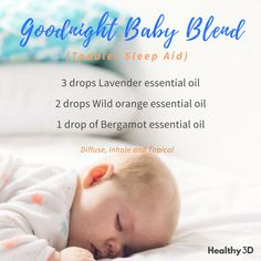Get your baby to sleep through the night with this blend. #aromatherapysleepblends