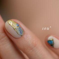 金継ぎ Summer Acrylic Nails, Acrylic Nail Art, Gel Nail Art, Nail Manicure, Short Nail Designs, Colorful Nail Designs, Gel Nail Designs, Colorful Nails, Hot Nails