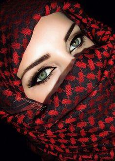 Eyes of Beauty Gorgeous Eyes, Beautiful Hijab, Pretty Eyes, Cool Eyes, Arabian Women, Arabian Beauty, Arabian Makeup, Girl Face, Woman Face