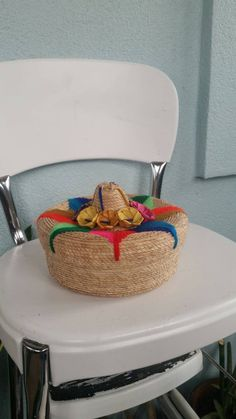 Check out this item in my Etsy shop https://www.etsy.com/listing/217722443/vintage-mexican-sombrero-hat-basket