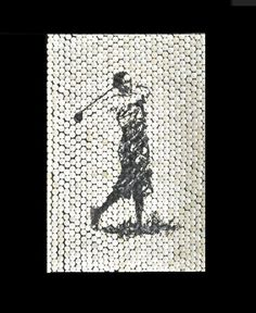 Old Time Golfer Painting on Custom Golf Tee Canvas    Artwork by Paul Peterson, Artist Paintings can be commissioned in any custom size and can be shipped anywhere in the US. Contact us for pricing!