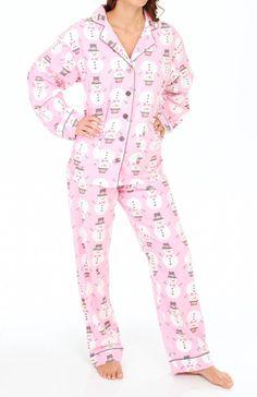 PJ Salvage Holiday Snowman Pajama Set MHSNOPJ - PJ Salvage Sleepwear