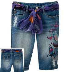 So Butterfly Belted Denim Skimmer Pants - Girls 7-16 $34.00
