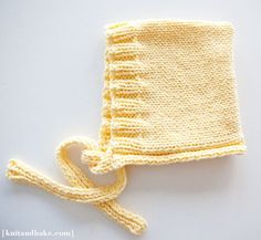 baby bonnet knit (15 baby knit projects for beginners)