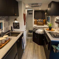Van Home, Van Living, Creature Comforts, Tiny House, Instagram, Kitchen Cabinets, Building, Van Travel, Design