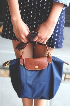 Navy longchamp, I like the skirt aswell
