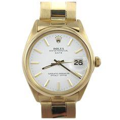 ROLEX Gold Oyster Perpetual Date ref. 1500 circa 1962