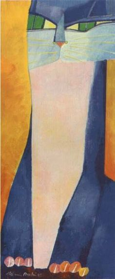 Aldemir Martins - (Modernismo) Brasileiro - Pinturas com Títulos - Pinturas do A'Uwe
