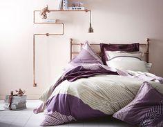 la parure de lit collection zahara son motif place et son pied de poule se