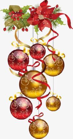 No Dia de Natal, A árvore De Natal, Bolas De NatalImagem PNG