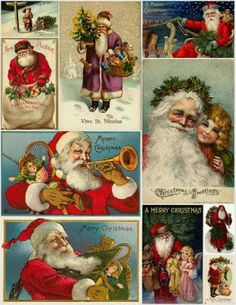 Multiple Free Vintage Christmas Printables