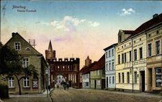 Ansichtskarte / Postkarte Jüterbog im Kreis Teltow Fläming, Partie in der Damm Vorstadt | akpool.de