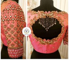 Indian Blouse Designs, Blouse Back Neck Designs, Traditional Blouse Designs, Cutwork Blouse Designs, Blouse Designs Catalogue, Wedding Saree Blouse Designs, Pattu Saree Blouse Designs, Hand Work Blouse Design, Stylish Blouse Design