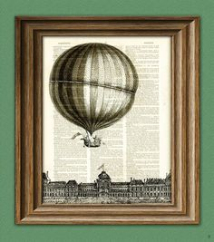 Hot Air Balloon Print illustration beautifully by collageOrama, $6.99