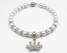 White Pearl Dog Collar Pearl Cat Collar Beaded by Studio313Designs