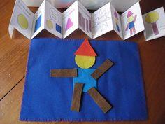Um jogo em feltro para brincar com as formas.