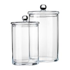 IKEA - RYSSBY 2014, Jar with lid, set of 2, The transparent jar makes it easy to find what you are looking for, regardless of where it is placed.