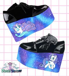 Hand painted galaxy my little pony rarity inspired platform