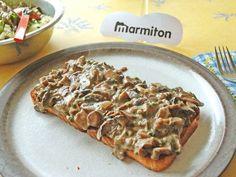 Croûtes aux champignons - Recette de cuisine Marmiton : une recette
