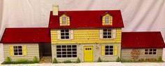 Marx Metal Dollhouse Vintage 1962 | RARE Vintage Marx Tin Metal Dollhouse with Breezeway | eBay