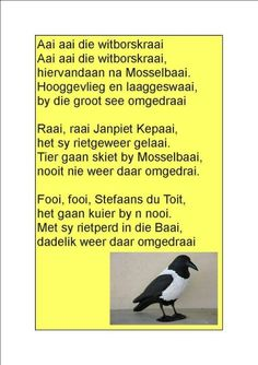 Music Lessons For Kids, Kids Songs, Afrikaanse Quotes, School Songs, Rhymes Songs, Travel Humor, Stories For Kids, Animal Quotes, Funny Art