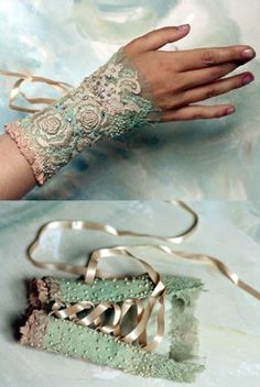 hand embroidered cuff