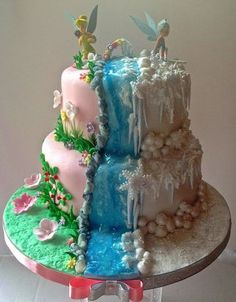 """""""Secret Of The Wings"""" Tinkerbell & Periwinkle Pirate Fairy Cake, Pirate Party, Beautiful Cakes, Amazing Cakes, Fondant Cakes, Cupcake Cakes, Tinkerbell Birthday Cakes, Tinkerbell Party, Secret Of The Wings"""
