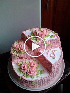 Photo - Schoki and other recipes - - Torten - Cake Cake Decorating Techniques, Cake Decorating Tips, Cookie Decorating, Food Cakes, Cupcake Cakes, Mini Cakes, Cake Shapes, Cake Icing, Buttercream Cake
