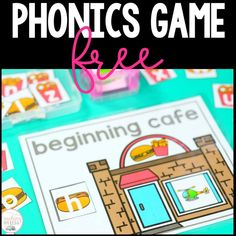 free-beginning-sounds-phonics-game  Use these beginning sounds games in your classroom as you start teaching beginning sounds. #beginningsounds #kindergartenphonics #beginningsoundskindergarten #teachingonless Phonics Words, Teaching Phonics, Phonics Activities, Classroom Activities, Teaching Resources, Beginning Sounds Kindergarten, Kindergarten Games, Letter Recognition, Letter Tracing