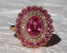Hey, I found this really awesome Etsy listing at https://www.etsy.com/listing/205207706/pink-sapphire-engagement-ring-rose-gold