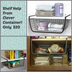 Shelf help! Awesome ideas to use this guy! Message me on how to get yours! Ashclevercontainer@outlook.com
