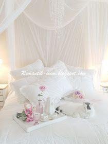 My Shabby Chic Home ~ Romantik Evim ~Romantik Ev: Romantik ev:My Bedroom - Yatak Odasi- shabby chic beyaz yatak odasi