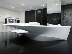 The Neil Barrett shop in shop by Zaha Hadid Architects