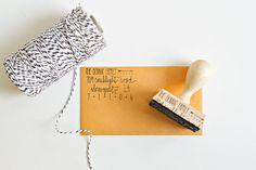 Custom Address Stamp - 2 1/4 hand calligraphy return address rubber stamp - personalized stamp via Etsy
