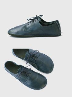 Ahinsa shoes® Sundara:Barfuss Halbschuhe recycelte blau