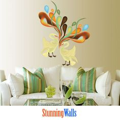 Swans Art  Printed Decal Stickers by StunningWalls on Etsy, $68.00